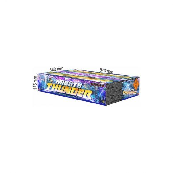 Ohnostroj Mighty Thunder rozmery